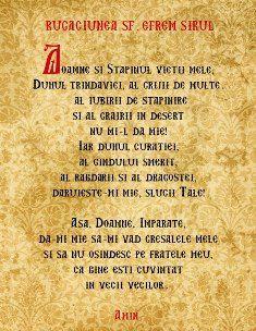 Rugăciunea Sfântului Efrem Sirul