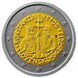 Sfinţii Chiril şi Metodie pe moneda de 2€, dar fără aureolă