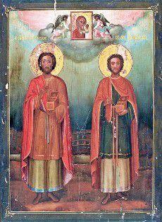COSMA SI DAMIAN: despre cele trei perechi diferite de Sfinti frati