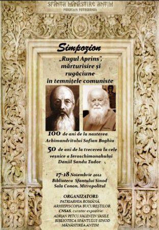 """Simpozionul """"Rugul aprins"""" la Mănăstirea Antim"""