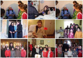 Copiii din Ţara Făgăraşului aduc mângâiere şi bucurie