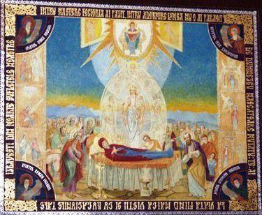 Adormirea Maicii Domnului (icoana pictată de Părintele Arsenie Boca)