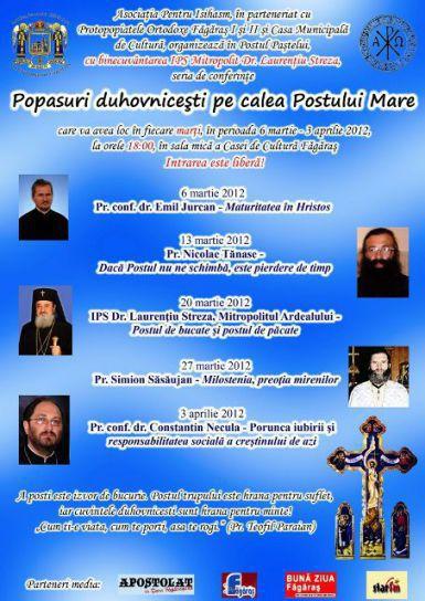 Conferinţe duhovniceşti în Postul Mare