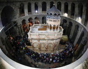 Baldachinul Sfântului Mormânt a fost restaurat și sfințit