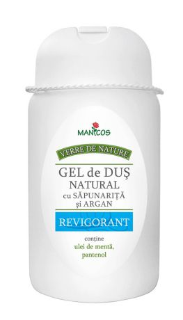 Gel de duș natural cu săpunariță și argan REVIGORANT, 300ml