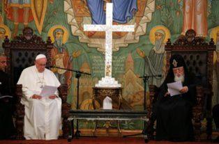 Papa Francisc, primit în Georgia cu indiferență?