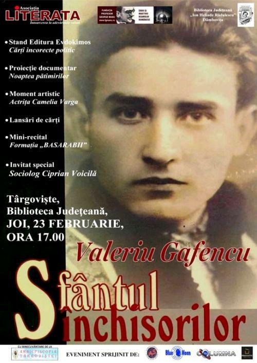 Conferinţă Valeriu Gafencu - Sfântul Închisorilor (23 feb.2017 - Târgoviște)
