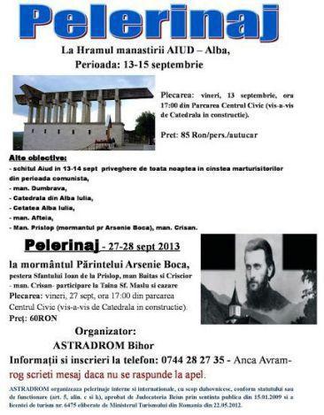 Pelerinaj la Aiud şi Prislop (sept.2013)