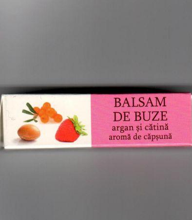 Balsam de buze cu ulei de argan, extract uleios de cătină și aromă de căpșună, 4.8 g