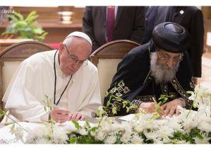 Biserica Catolică și Patriarhia coptă din Cairo, Declarație comună pentru recunoașterea Tainei Botezului