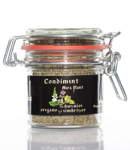 Condiment cu busuioc, oregano și cimbrișor, 33g -   *** (Naturiste)