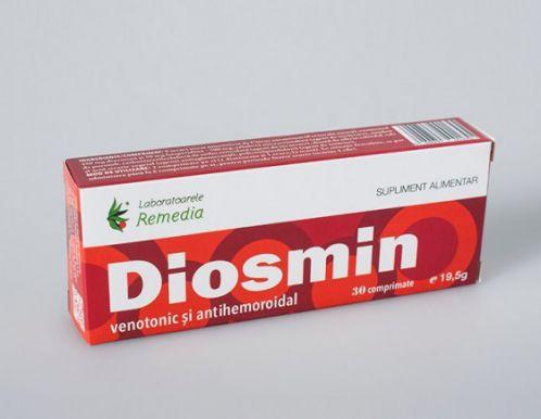 Diosmin: Venotonic și antihemoroidal (30 comprimate)