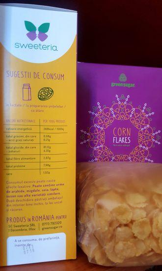 Corn Flakes cu Green Sugar (fulgi de porumb), 400g