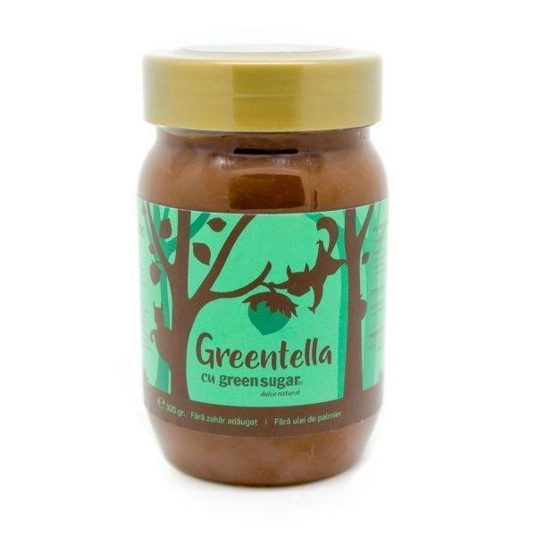 Greentella, cremă de cacao cu alune și Green Sugar, 300g