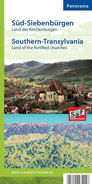 TRANSILVANIA de Sud-Ţara Bisericilor Fortificate (harta panoramică)