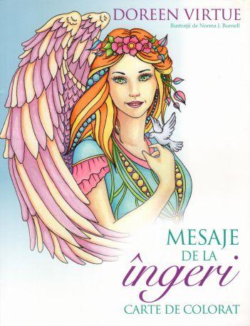 Mesaje de la îngeri. Carte de colorat - Doreen Virtue (CARTE)