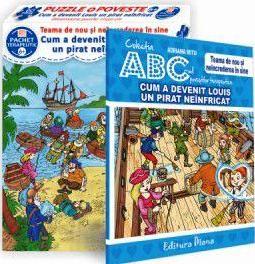 Cum a devenit Louis un pirat neînfricat (cutie cu Poveste terapeutică + Set Puzzle)(copii minim 6 ani)