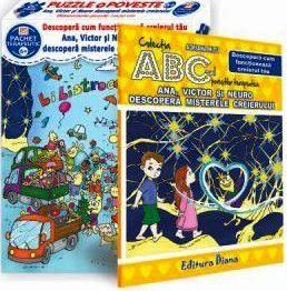 Ana, Victor și Neuro descoperă misterele creierului (cutie cu Poveste terapeutică + Set Puzzle)(copii minim 6 ani)