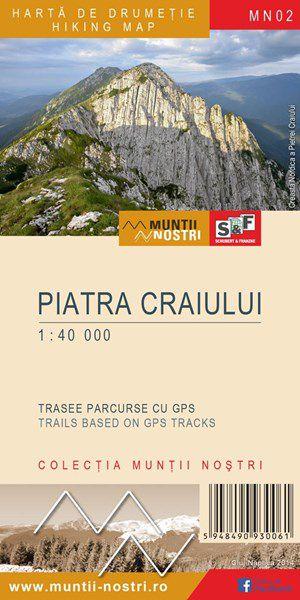 Munţii PIATRA CRAIULUI - Harta de drumeţie