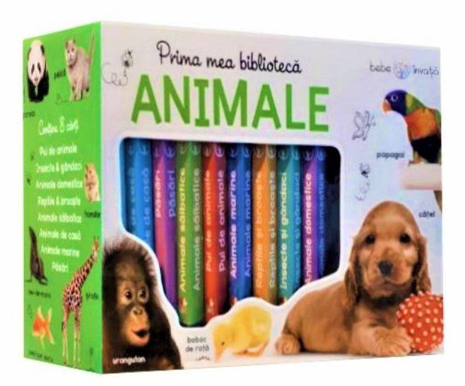Prima mea bibliotecă. Animale. Bebe învață (8 cărticele)