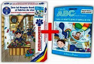 Țara lui Noapte Bună și fabrica de vise (cutie cu Poveste terapeutică + Set Puzzle)(copii minim 4 ani)