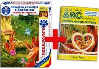 Povestea veveriței Căstănica (cutie cu Poveste terapeutică + Set Puzzle)(copii minim 4 ani)