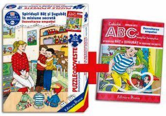 Spiridușii Băț și Șugubăț în misiune secretă (cutie cu Poveste terapeutică + Set Puzzle)(copii minim 4 ani)
