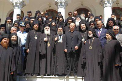 Vladimir Putin a vizitat Muntele Athos