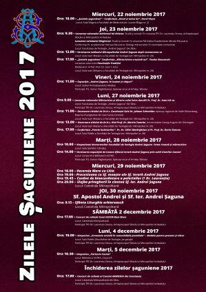 Invitație la Zilele Șaguniene 2017