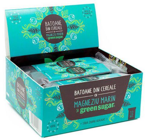 Baton cereale cu cacao + Magneziu marin și Green Sugar -   *** (Naturiste)