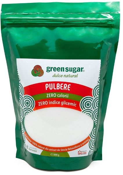 Green Sugar Pulbere - Îndulcitor natural, 500gr