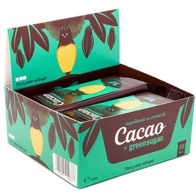 Napolitana cu crema de Cacao si Green Sugar