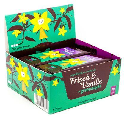 Napolitana cu crema de Frisca & Vanilie si Green Sugar -   *** (Naturiste)