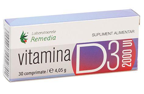 Vitamina D3 2000UI (30 comprimate) -   *** (Naturiste)
