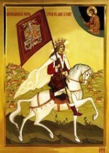 × Icoana Binecredinciosul voievod Stefan cel Mare si Sfant - litografie pe lemn