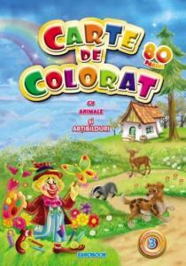 Carte de colorat vol. 3 cu animale si abtibilduri A4