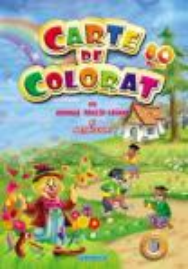 Carte de colorat vol. 5 cu animale, fructe, legume si abtibilduri A4