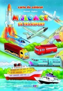 Mijloace de transport - Carte de colorat B5