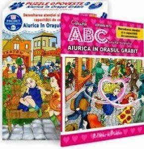 Aiurica în Orașul Grăbit (cutie cu Poveste terapeutică + Set Puzzle) (copii minim 6 ani)